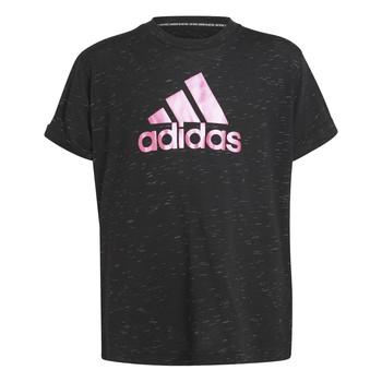 textil Niña Camisetas manga corta adidas Performance MONICA Negro