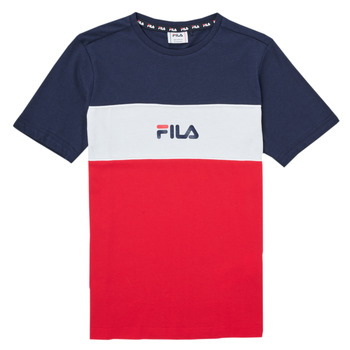 textil Niña Camisetas manga corta Fila TEKANI Rojo / Marino