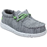 Zapatos Niño Zapatillas bajas Dude Wally kids sox Lienzo gris
