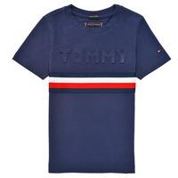 textil Niño Camisetas manga corta Tommy Hilfiger ELEONORE Marino