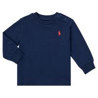 textil Niño Camisetas manga larga Polo Ralph Lauren FADILA Marino