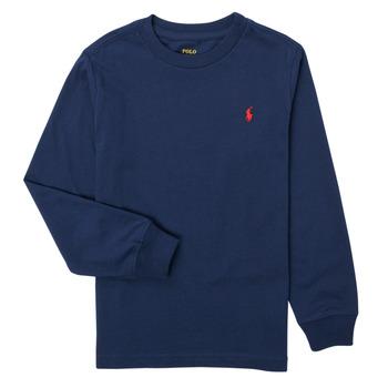 textil Niño Camisetas manga larga Polo Ralph Lauren KEMILO Marino