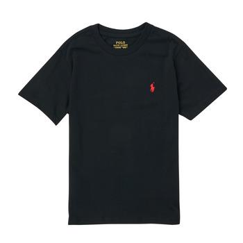 textil Niño Camisetas manga corta Polo Ralph Lauren FANNY Negro
