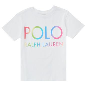 textil Niña Camisetas manga corta Polo Ralph Lauren FERILO Blanco