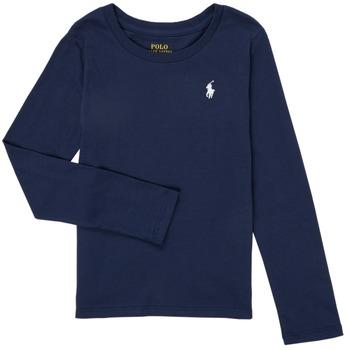 textil Niña Camisetas manga larga Polo Ralph Lauren TENINA Marino