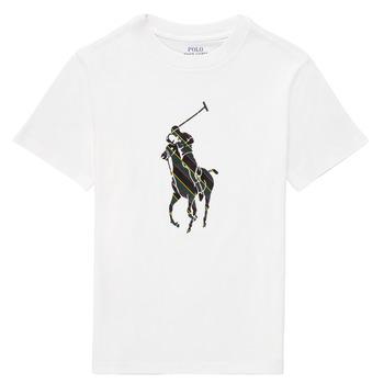 textil Niño Camisetas manga corta Polo Ralph Lauren GUILIA Blanco
