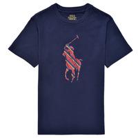 textil Niño Camisetas manga corta Polo Ralph Lauren GUILIA Marino