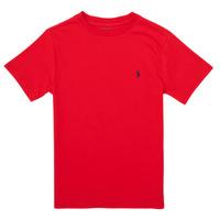 textil Niña Camisetas manga corta Polo Ralph Lauren FOLLIA Rojo