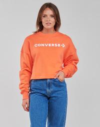 textil Mujer Sudaderas Converse EMBROIDERED WORDMARK CREW Naranja