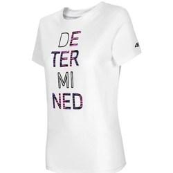 textil Mujer Camisetas manga corta 4F TSD018 Blanco