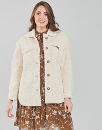 textil Mujer Abrigos Esprit LL F SHRLG SHKT Beige