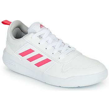 Zapatos Niña Zapatillas bajas adidas Performance TENSAUR K Blanco / Rosa