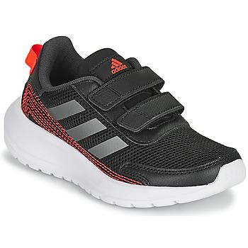 Zapatos Niño Running / trail adidas Performance TENSAUR RUN C Negro / Rojo