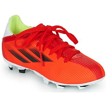 Zapatos Niños Fútbol adidas Performance X SPEEDFLOW.3 FG J Rojo