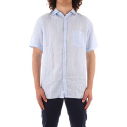 textil Hombre Camisas manga corta Trussardi 52C00213 1T002248 AZUL