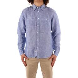 textil Hombre Camisas manga larga Blauer 21SBLUS01221 AZUL