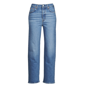 textil Mujer Vaqueros rectos Levi's RIBCAGE STRAIGHT ANKLE Azul