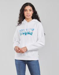 textil Mujer Sudaderas Levi's GRAPHIC STANDARD HOODIE Blanco