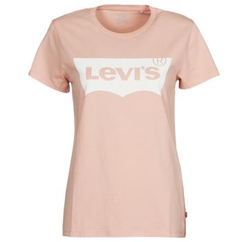 textil Mujer Camisetas manga corta Levi's THE PERFECT TEE Rosa