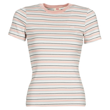 textil Mujer Camisetas manga corta Levi's SS RIB BABY TEE Multicolor