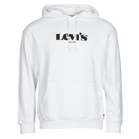 textil Hombre Sudaderas Levi's T2 RELAXED GRAPHIC PO Blanco