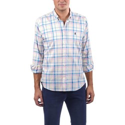 textil Hombre Camisas manga larga El Pulpo CAMISA PINPOINT CUADRO MADRAS AZUL Azul