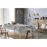 Casa Manteles Naf Naf Mantel resinado  FRUTOSPLATES gris/azul