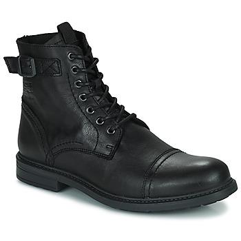 Zapatos Hombre Botas de caña baja Jack & Jones JFW SHELBY LEATHER Negro