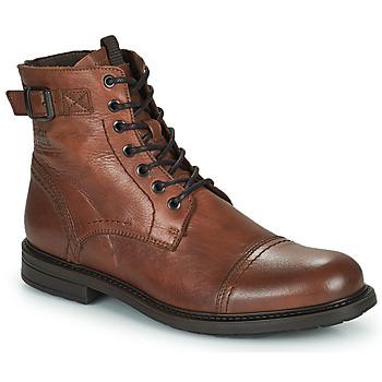 Zapatos Hombre Botas de caña baja Jack & Jones JFW SHELBY LEATHER Cognac