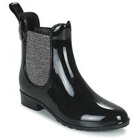 Zapatos Mujer Botas de agua Les Tropéziennes par M Belarbi RAINBOO Negro / Plata