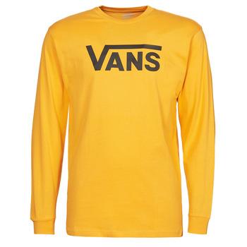 textil Hombre Camisetas manga larga Vans VANS CLASSIC LS Amarillo / Negro