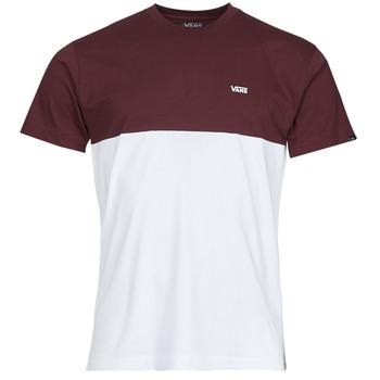 textil Hombre Camisetas manga corta Vans COLORBLOCK TEE Blanco