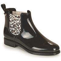 Zapatos Mujer Botas de agua Les Petites Bombes RAIN Negro / Leopardo