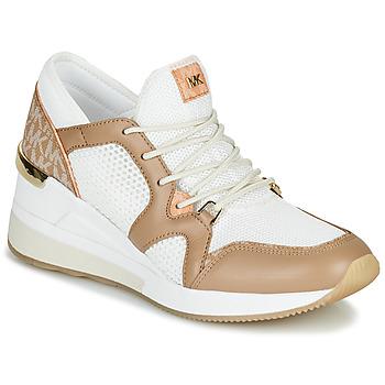 Zapatos Mujer Zapatillas bajas MICHAEL Michael Kors LIV Camel / Blanco