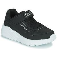 Zapatos Niños Zapatillas bajas Skechers UNO LITE Negro