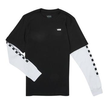 textil Niño Camisetas manga larga Vans LONG CHECK TWOFER Negro