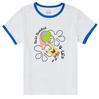 textil Niña Camisetas manga corta Vans VANS X SPONGEBOB BEST BUDDIES RINGER Blanco