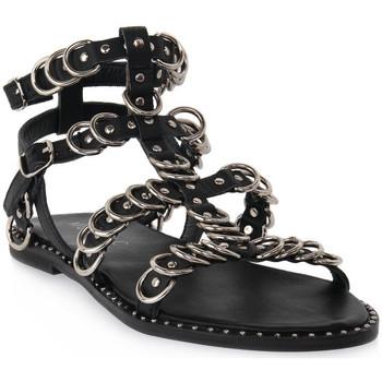 Zapatos Mujer Sandalias Mosaic 3010 VITELLO NERO Nero