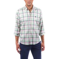textil Hombre Camisas manga larga El Pulpo CAMISA PINPOINT CUADRO MADRÁS VERDE Verde