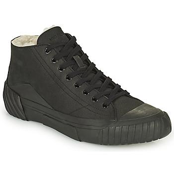 Zapatos Hombre Zapatillas altas Kenzo TIGER CREST SHEARLING SNEAKERS Negro