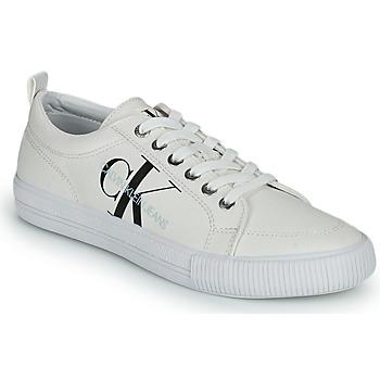 Zapatos Mujer Zapatillas bajas Calvin Klein Jeans VULCANIZED LACEUP SNEAKER Blanco