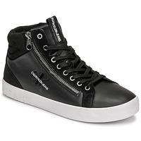 Zapatos Hombre Zapatillas altas Calvin Klein Jeans VULCANIZED MID LACEUP Negro