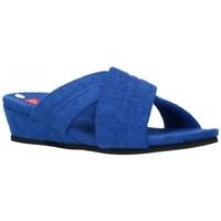 Zapatos Mujer Pantuflas Norteñas 9-942 Mujer Azul bleu