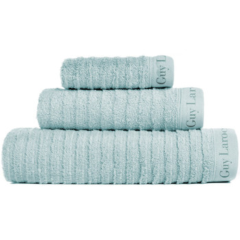 Casa Toalla y manopla de toalla Guy Laroche Juego de 3 toallas PALACE azul mar