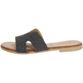 Zapatos Mujer Zuecos (Mules) Dorea MH103 Gris antracita