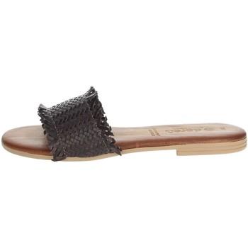 Zapatos Mujer Zuecos (Mules) Dorea MH101 Marrón