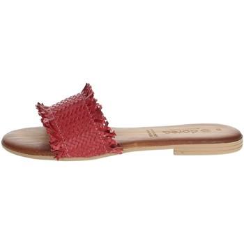 Zapatos Mujer Zuecos (Mules) Dorea MH101 Rojo