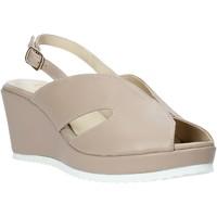 Zapatos Mujer Sandalias Esther Collezioni ZB 115 Beige