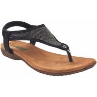 Zapatos Mujer Sandalias Amarpies Sandalia señora  19081 abz negro Negro