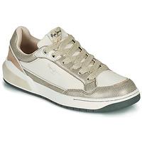 Zapatos Mujer Zapatillas bajas Pepe jeans MARBLE GLAM Blanco / Oro